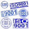 ISO 9001 rubber stamp symbol vector illustrations