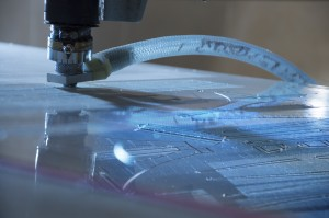 engraving machine cuting out pattern